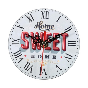 Creative Antique Wall Clock Vintage Style Wooden Round Clocks HomeDecoration (#7) - intl