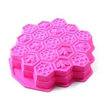 Creative Honeycomb Cake Molds for Kids Silicone Baking Cake CandyCookie Mold Bakeware Biscuit mold - intl Price Philippines