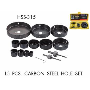 Creston 15pcs Carbon Steel Hole Saw Set