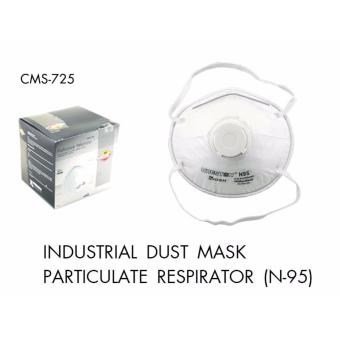 Creston 3pcs FFPI Respirator Mask w/ Breathing Valve Particulate(N-95) For Sanding, Grinding, Sawing, Sweeping, Insulating