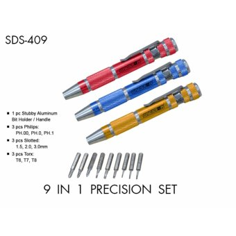 Creston 9 in 1 Precision Screw Driver Set