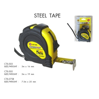 CRESTON MEASURING TAPE STEEL TAPE( 5.0 M X 19 MM)