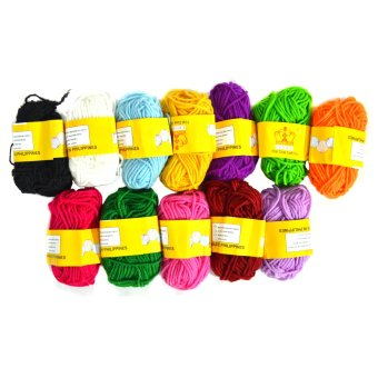 Crown Craft Yarn Set of 12 (Multicolor)