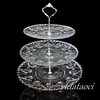 Crystal glass candy dish fruit plate