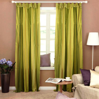 Curtain Essentials Carvey Green Set of 2