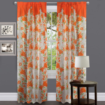 Curtain Essentials Daffodil Orange Set of 2
