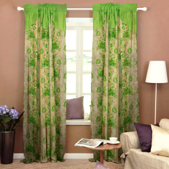 Curtain Essentials Daffodil Yellow Green Set of 2