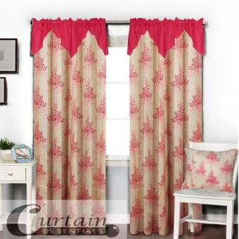 Curtain Essentials Grass Flower (Pink) Single Panel