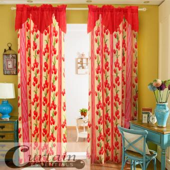 Curtain Essentials Lotus Red Double Panel Price Philippines