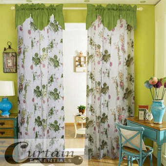 Curtain Essentials Peony Green Set of 2