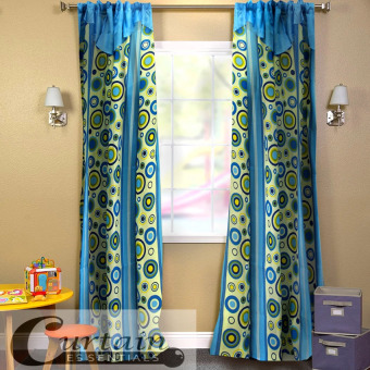 Curtain Essentials Pete Curtain (Blue) Single Panel