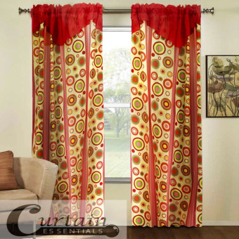 Curtain Essentials Pete Red Set of 2