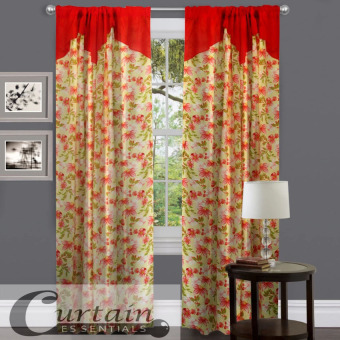 Curtain Essentials Red Blossom Set of 2