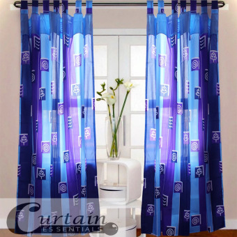 Curtain Essentials Swirl Curtain (Indigo) Single Panel
