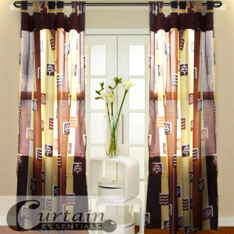 Curtain Essentials Swirl Umber Set of 2