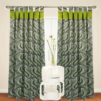 Curtain Essentials Tarragon Sea Green Single Panel