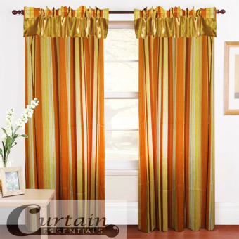 Curtain Essentials Woody Yellow Single Panel
