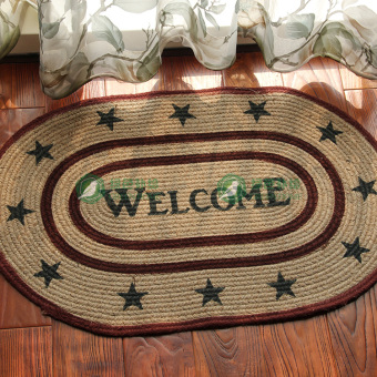 Cute can be washed balcony rub foot pad doormat