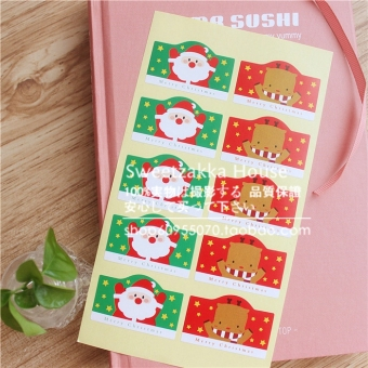 Cute Christmas New style elk sealing stickers