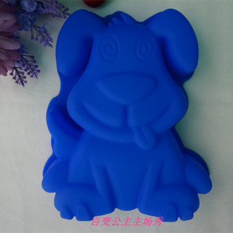 Cute dog shape baking bread cake oven dish Pug