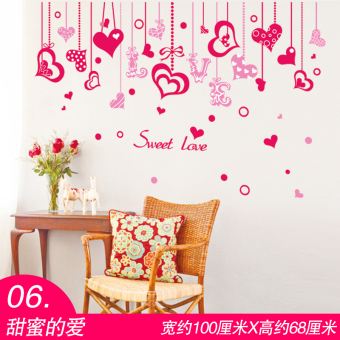 Cute girl's room decorative wall adhesive paper sticker