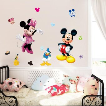 Cute Mickey Minnie Mouse Wall Sticker Vinyl Decal Kids Baby RoomDecor Mural DIY - intl - 4