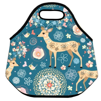 Cute Pattern Waterproof Insulated Thermal Portable Cooler Storage Tote Lunch Bag - intl