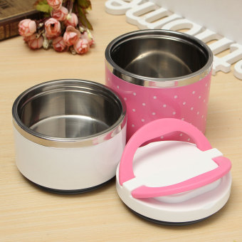Cute Stainless Steel Lunch Box Insulation Bento Lunch Box Food Container - intl