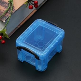 Cute Storage Boxes Home Furnishing Trumpet Mini Lock Box OrganizerBlue - intl - 3