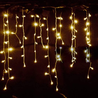 Cyber 3.5m Droop EU Plug Curtain Icicle String Lights 220V New Year Christmas LED Lights Garden Wedding Party Decoration