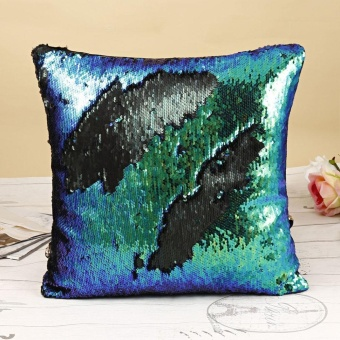 Cyber Magic Reversible Sequins Mermaid Pillow Cases ( Green ) - intl