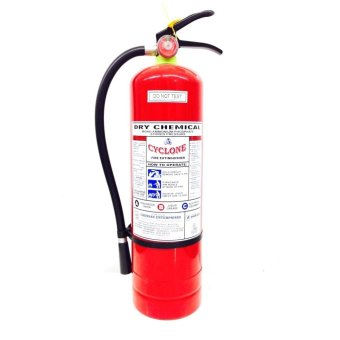 Cyclone Fire Extinguisher 10lbs ABC Dry Chemical (Red)