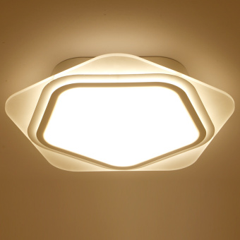 D60cm 36W LED Remote Control Modern White metal Acrylic CeilingLights for Living room Bedroom Dining room Hotel Lighting - intl