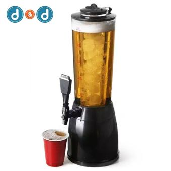 D&D Beer Tower Dispenser Lights Up 2.5L with LED and Ice Holder
