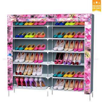 D&D High Quality Double Capacity 6 Layer Shoe Rack Shoe Cabinet (Orange)