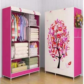 D&D Quality Fashion 3D Panoramic View Simple Wardrobe(Pink)