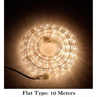 DAN DAN 10 Meters LED Flat Type Rope Light with Controller (WarmWhite) Price Philippines