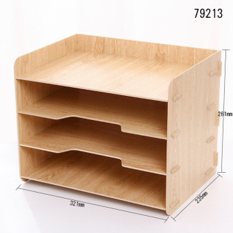 Deli desktop storage wooden large bookcase