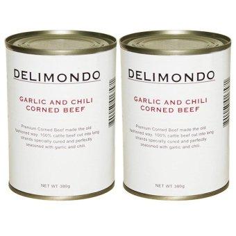 Delimondo Garlic and Chili Corned Beef Set of 2