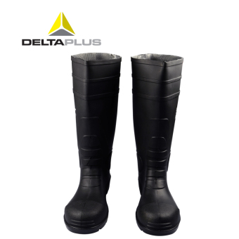 Deltaplus anti-smashing anti-stab wear-resistant acid rain boots safety boots