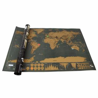 Deluxe Travel Edition Personalized Journal Scratch Off World Map Poster - intl - 2