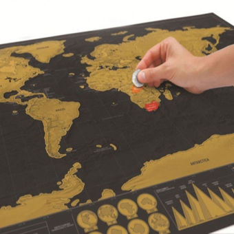 Where to buy deluxe travel edition scratch off world map poster deluxe travel edition scratch off world map poster personalizedjournal log gift 3 gumiabroncs Gallery