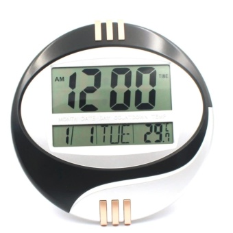 Desktop or Wall Mounted Clock with Alarm Clock Round Design