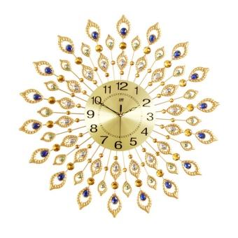 Diamond Peacock Luxury Decorations Mute Wall Clock - intl - 2