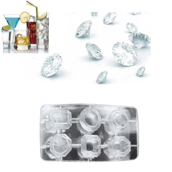 Diamonds Gem Cool Ice Cube Chocolate Soap Tray Mold Silicone FodantMoulds - intl