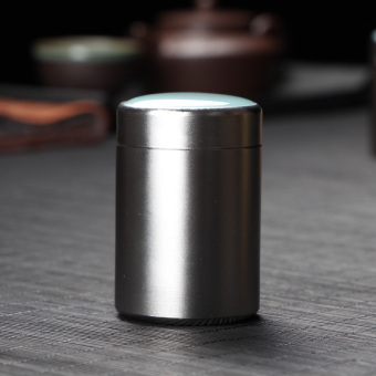 Diao portable sealed portable travel metal jar tea containers