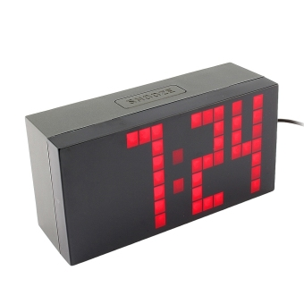Digital Electronic Clock LED Alarm Clock 4 digits (Red)