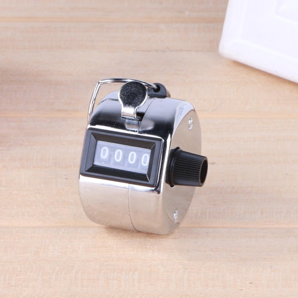 Useful Plastic Pocket With Keyring 8 Digit Display Lcd Screen 1602 16x2 Blue Backlight  And Quality Digital Hand Tally Counter 4 Number Manual Counting Golf Clicker Intl