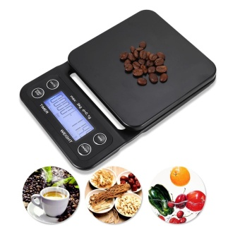 Digital Kitchen Food Coffee Weighing Scale + Timer with Back-lit LCD Display - intl