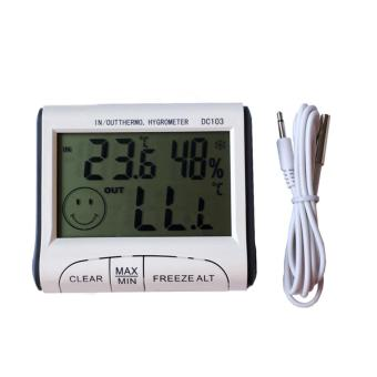 Digital LCD Weather Station Electronic Temperature Humidity MeterIndoor Outdoor Thermometer Hygrometer With Probe - intl